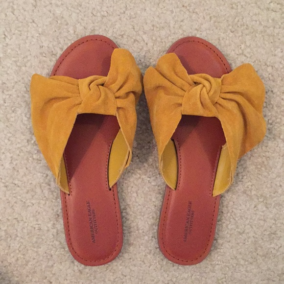 1fa4ec52a American Eagle Outfitters Shoes | American Eagle Bow Sandals | Poshmark
